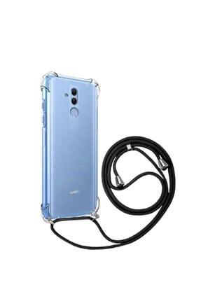 emybox Huawei Mate 20 Lite Boyundan Askılı Darbe Emici Şeffaf Silikon Kılıfı