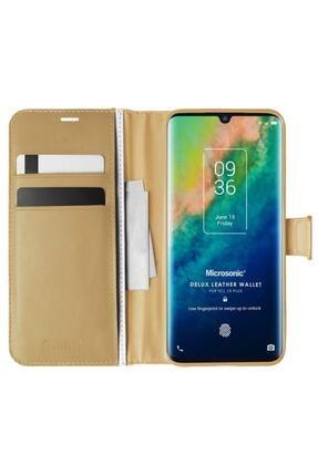 TCL Techsun 10 Plus Kılıf Delux Leather Wallet Gold