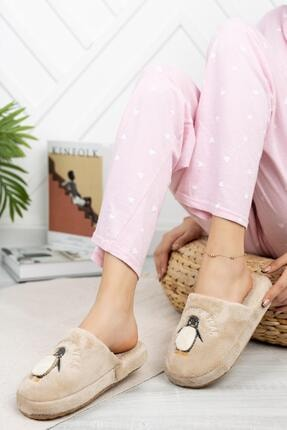 Moda Frato Modafrato Br01 Penguen Kışlık Ev Terliği Kadın Terlik Ses Yapmaz