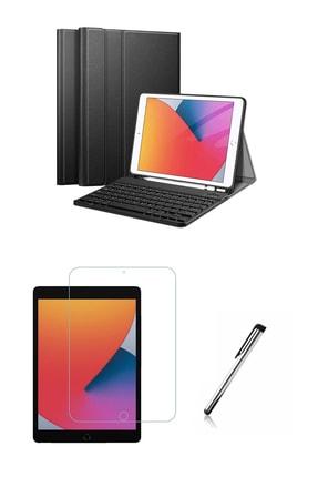 """Moserini Ipad 9. Nesil 2021 10.2"""" Klavyeli, Smart Tablet Kılıfı, Mıknatıslı, Kalemlikli + Cam + Kalem Set!"""