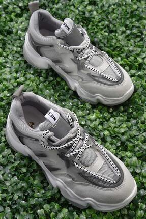 Bambi Gri Kadın Sneaker K01678013522