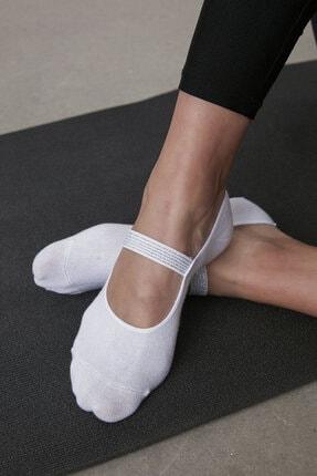Penti Beyaz Shiny Band Babet Çorabı