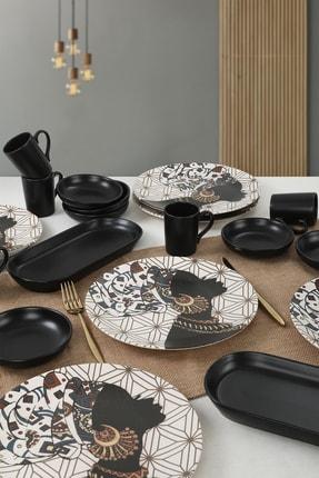 Keramika Afrikalı Kadınlar Çeyiz Seti 20 Parça 6 Kişilik - 18111