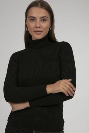 Pattaya Kadın Boğazlı Fitilli Triko Kazak Y20w110-44500