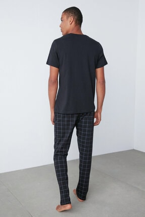 Penti Dark Checked Pijama Takım