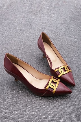 Marjin Kadın Stiletto Topuklu Ayakkabı Fortebordo Rugan