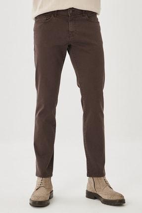 ALTINYILDIZ CLASSICS Erkek Kahverengi 360 Derece Her Yöne Esneyen Rahat Slim Fit Pantolon