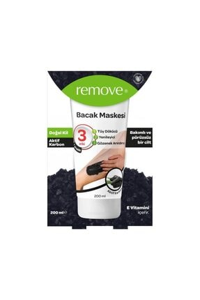 remove Tüy Dökücü Aktif Karbon Bacak Maskesi 200 ml