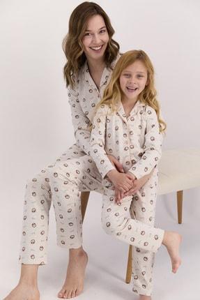Arnetta Kadın Uzun Kol Desenli Gömlek Pijama Takımı (anne Kız Kombin Yapılabilir Fiyatlar Farklıdır)