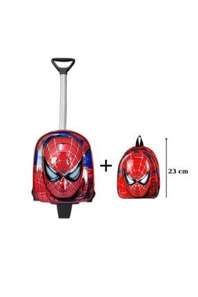 MASTER PACK Örümcek Adam Anaokulu Çanta Seti Çekçekli Çanta - Mini Sırt Çantası