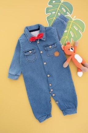 BabyWorldStore Kot Düğmeli Papyonlu Tarz Tulum Takım