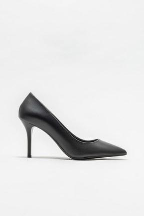 Elle Shoes Siyah Deri Kadın Stiletto
