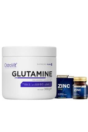 Nutraxin Zinc Sulphate 15 Mg 100 Tablet + Ostrovit Pure Glutamine Powder 300 Gr