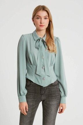 Robin Kurdele Detaylı Bluz Mint