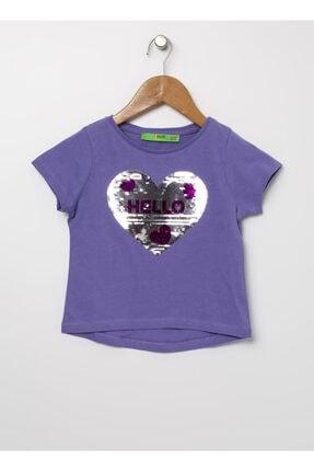 LİMON COMPANY Limon Mor Kız Çocuk T-shirt