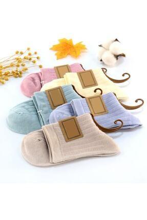BGK Unisex Düz Renkli Çorap 5'li