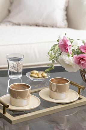 English Home Lola Porselen 2'li Kahve Fincan Takımı 80 ml Sütlü Kahve