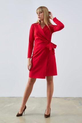 Gusto Ceket Elbise - Kırmızı