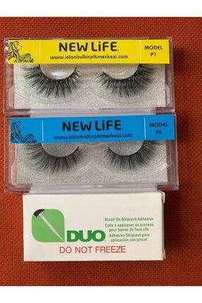 New Life 2 Adet Bütün Takma Kirpik Ve Yapıştırıcısı -(avantaj Paketi:2 Adet Kirpik + Yapıştırıcı)