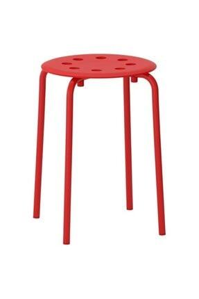 IKEA Tabure, Kırmızı Meridyendukkan Genişlik 40cm Kırmızı Renk Yuvarlak Tabure