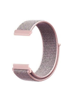 CaseStreet Case Street Google Ticwatch S2 Wear Os Kordon Cırtcırt Kumaş Ayarlanabilir Bronz