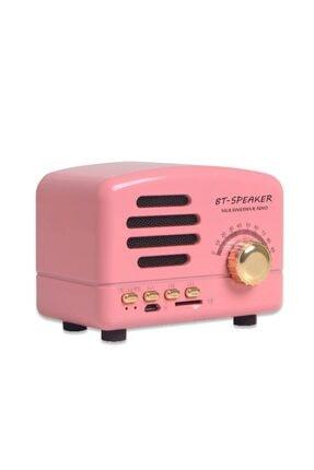 JUNGLEE Retro Nostaljik Mini Radyo Bluetooth Hoparlör Sd Speaker Bt01