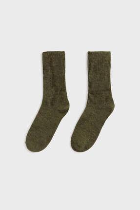 Oysho Alpaka Yününden Orta Boy Çorap