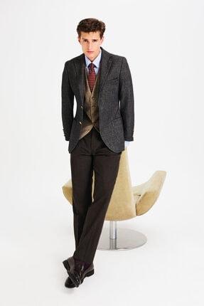 D'S Damat Slim Fit Antrasit Kombinli Takım Elbise