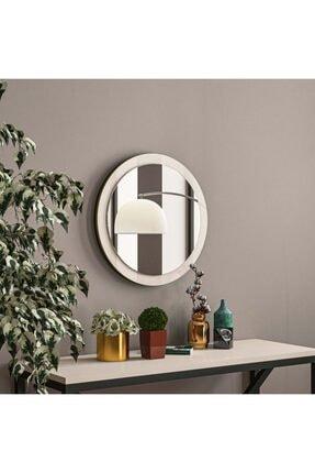 tino furniture Matrix Makyaj Aynası 33cm Yuvarlak Ayna Ofis Duvar Dekoratif Ayna