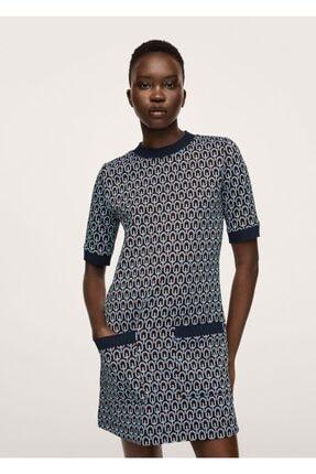 MANGO Woman Desenli Örgü Elbise