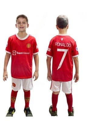 Liggo M. United Ronaldo Çocuk Forma Takımı Forma Şort Çorap Hediyeli