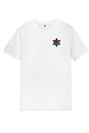 MINECRAFT Rüzgar Gülü Baskılı Kısa Kollu Beyaz Gamer Tişört