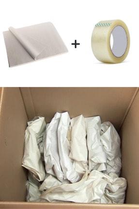 İhtiyaç Limanı 40x60 Taşınma Kağıdı 100 Adet Bardak Tabak Sarma Ambalaj Paketleme Kağıt Koli Bandı 100 Metre 1 Adet