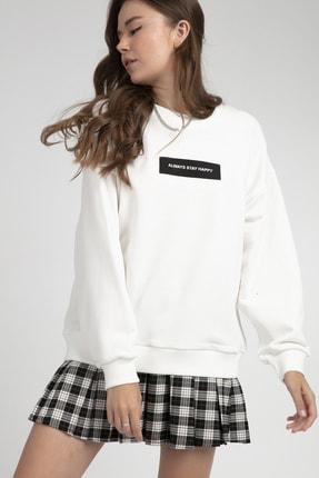 Pattaya Kadın Baskılı Oversize Sweatshirt P21w201-1565