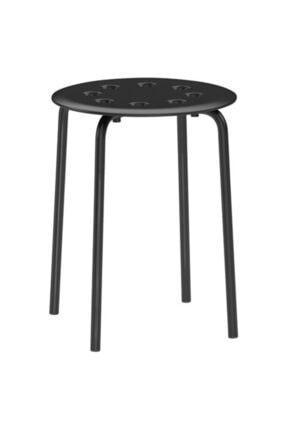 IKEA Tabure, Siyah Meridyendukkan Genişlik 40cm Siyah Renk Yuvarlak Tabure