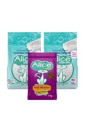 Alice Kartopu İnce Taneli Kedi Kumu Beyaz Sabun Kokulu 2x10kg 23 lt