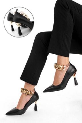 Marjin Kadın Stiletto Topuklu Ayakkabı Nazitasiyah