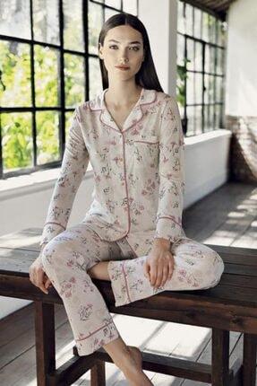 Artış 9211 Desenli Gömlek Yaka Pijama Takım 21k