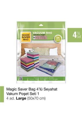Magic Saver Bag 4'lü Vakumlu Poşet Set-1