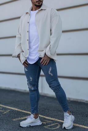 MOSST Dokuma Kadife Oversize Gömlek
