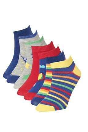 DeFacto Erkek Çocuk Çizgili 7'li Kısa Çorap