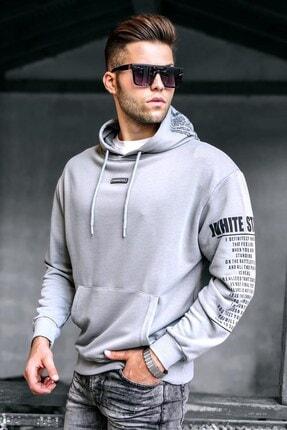 Madmext Boyalı Gri Erkek Sweatshirt 5332
