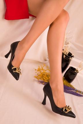 SOHO Kadın Siyah Klasik Topuklu Ayakkabı 16566