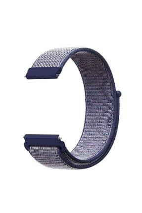 CaseStreet Case Street Google Ticwatch S2 Wear Os Kordon Cırtcırt Kumaş Ayarlanabilir Lacivert