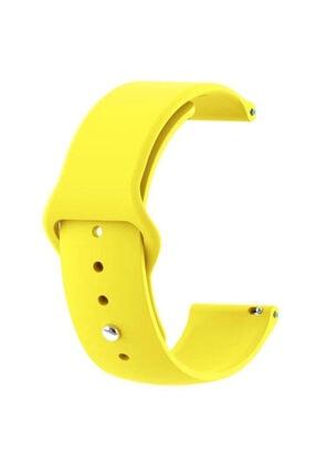 CaseStreet Case Street Google Ticwatch S2 Wear Os Kordon Klasik Silikon Krd 11 Sarı