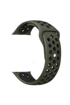 CaseStreet Case Street Google Ticwatch S2 Wear Os Kordon Delikli Çift Renk Silikon Koyu Yeşil