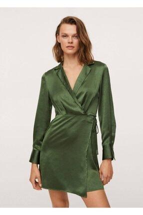 MANGO Woman Kadın Anvelop Saten Elbise