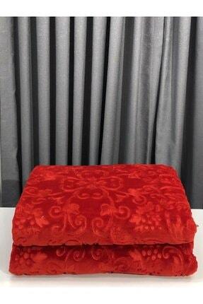 Merinos Çift Kişilik Elegance Embos Battaniye - Kırmızı
