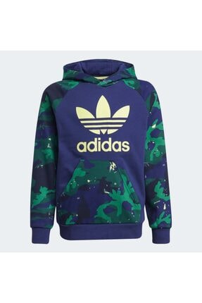 adidas Camo-print Çocuk Mavi Sweatshirt (h20312)