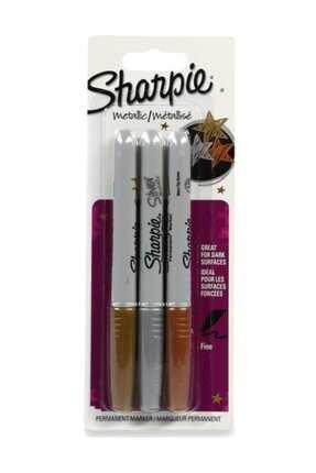 Sharpie Fine Marker Metalik Kalem Seti 3 Renk /